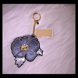 NWT-Michael Kors Leather charm